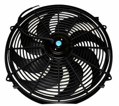 """16"""" Electric Curved 8 Blade Reversible Cooling Fan 3000CFM Thermostat Kit image 2"""