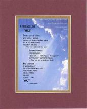 Touching and Heartfelt Poem for Special Friends - A Friend Like You Poem... - $15.79