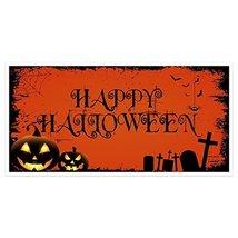 Black Orange Pumpkins Halloween Party Banner Backdrop Decoration - €18,70 EUR