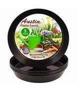 Austin Planter 8 Inch (6.3 Inch Base) Case of 10 Plant Saucers - Black P... - $6.37