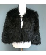 I.N.C. International Concepts Black Faux Fur Jacket - Size Small - $33.41