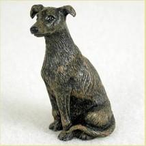 GREYHOUND BRINDLE TINY ONES DOG Figurine Statue Pet Gift Resin - $9.95