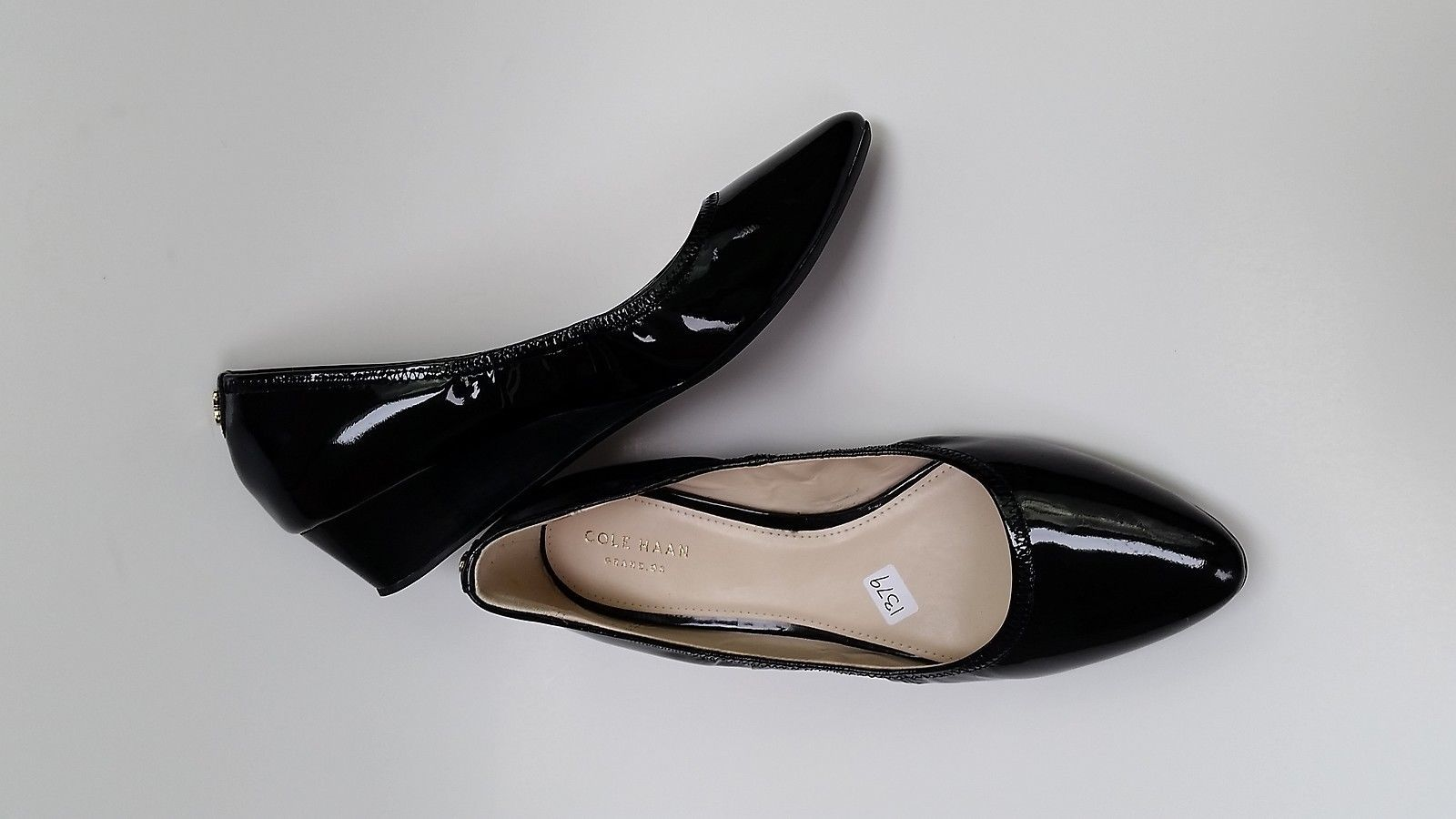 222c034d136 Cole Haan Shoes Heels Black Patent Leather Wedge Womens Size 7.5 B