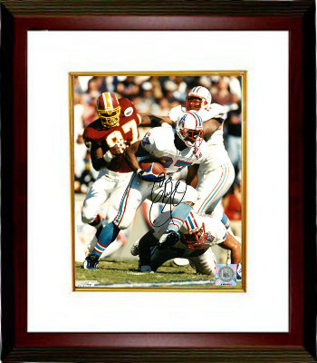 Primary image for Eddie George signed Tennessee Oilers 8x10 Photo Custom Framed (1997 Inaugural Se