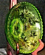 Green Candy Floral Dish Depression Glass AA19-CD0026 Vintage image 4