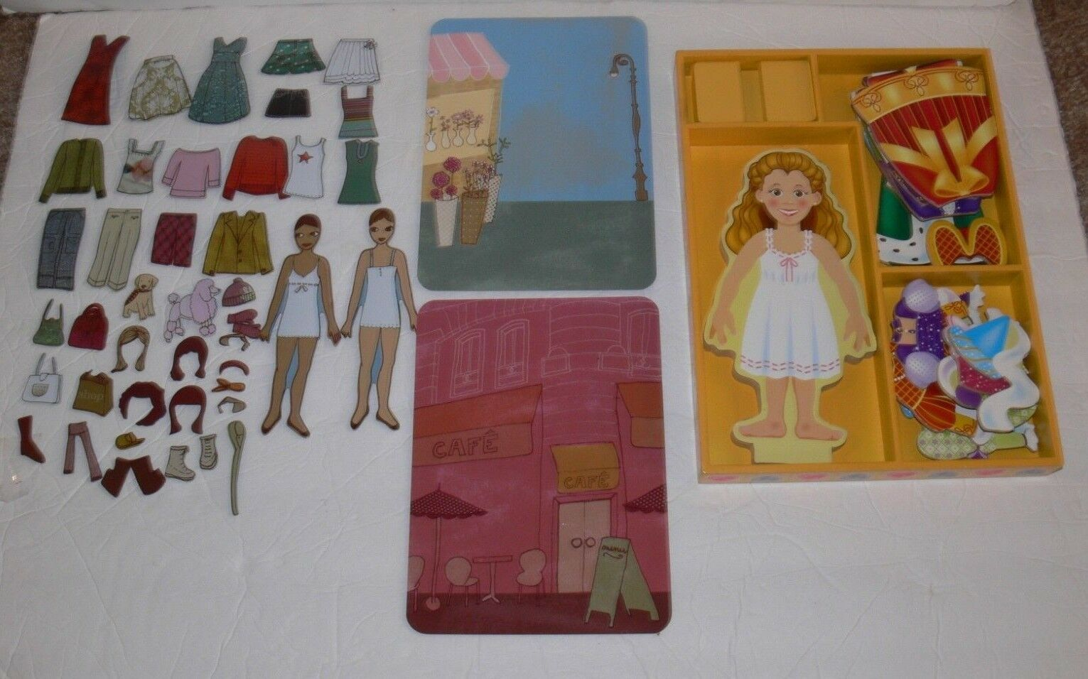 2 Magnetic Dress-Up Clothes Doll Sets  Melissa & Doug Pottery Barn ek  - $14.99