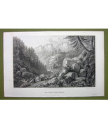 GERMANY Saxony Tiefer Grund Rocks Valley - 1820s Copper Engraving Cpt BATTY - $7.65
