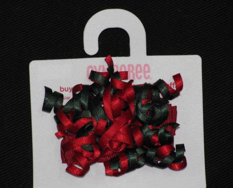 NWT Gymboree MOUNTAIN CABIN Red Green Barette Curlies