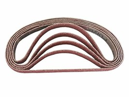 1/2 Inch X 18 Inch Ceramic Cloth Sanding Air File Belts (10 Pack, 60 Grit) - $39.76
