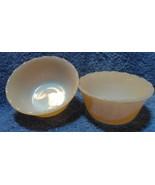 Qty 2 FIRE KING #424 PEACH LUSTRE Swirl Luster 6 oz CUSTARD CUPS Bowls R... - $13.97