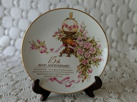 Avon 15th Year Anniversary 1989 Porcelain Collector's Plate 22K Gold Trim  - $14.54