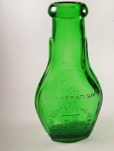 Vintage Ball Corporation Green Flask Jar 100 Year Centennial Carteret NJ - $40.19