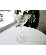 Cambridge Rose Point #3121 Stem Champagne Glass - $14.85