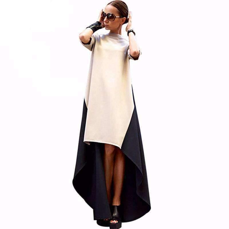 Daisy dress for less maxi dress black and beige assymetrical women maxi dress 1424672981023