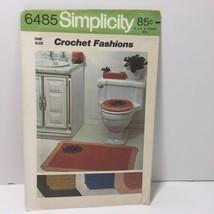 Simplicity Crochet Fashions 6485 Bathroom Accessories Rug  - $11.64