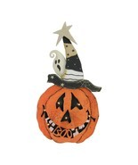 "Northlight 18.75"" B/O LED Pumpkin Standing Wood Halloween Decor - $22.86"