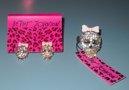 Betsey-johnson-rhinestone-skull-ring-earrings-jewelry-set-pink-clear-gold_thumb200