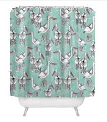 Personalized Custom Cartoon Animals Shower Curtain Polyester Waterproof Mildew B