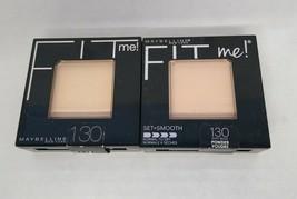 Set of 2: Maybelline Fit Me! Pressed Powder, Buff Beige 130 - $11.88