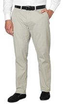 Tommy Hilfiger Men's Tailored Fit Flat Front Chino Pants Drizzle Color 3... - $25.34