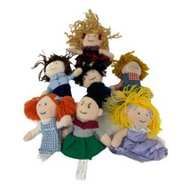 Manhattan Toy Finger Puppets Lot - Princess Princes Farmer Dorothy Girl ... - $15.99