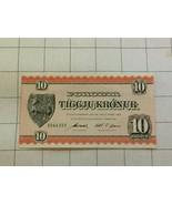 Farue Islands Foroyar 10 Kronur First Issue Note - $60.00