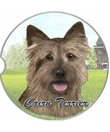 Cairn Terrier Car Coaster Absorbent Keep Cup Holder Dry New Stoneware  - $10.88