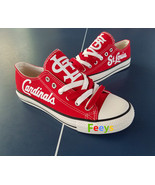 st. louis cardinals shoe women cardinals sneakers baseball fashion birthday gift - $59.99