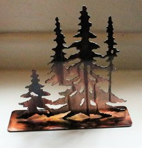 """Standing Trees in copper 9""""  Tall Metal Wall Art Decor - $21.99"""