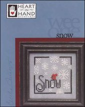 Snow Wee One winter holiday cross stitch chart Heart in Hand  - $4.50