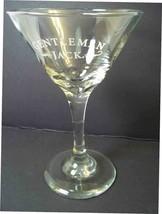 Tall martini glass Jack Daniel's Gentleman Jack white logo - $10.46