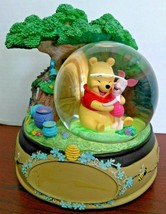 Rare Winnie the Pooh And Piglet Treehouse Snow Globe Music Box 1963 - $174.23