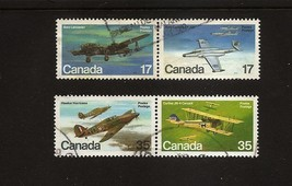 CANADA  Aircraft Airplanes- set of 4 - 2 Pairs 1980  Scott 873-876 - $1.38