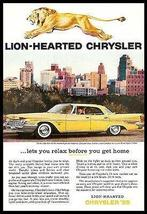 Chrysler New Yorker Lustre Bond Spun Yellow 1959 Photo Ad Golden Lion - $14.99