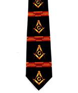 Masonic Bricks Mens Necktie Fraternal Freemason Square Mason Black Neck ... - $15.79