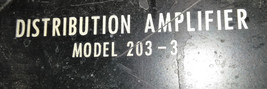 Distribution Amplifier 203-3 CPN 270-2169 30Outputs Signal For Parts Only image 2
