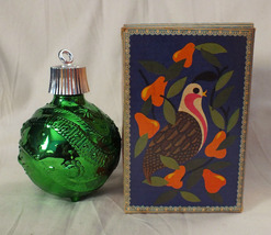 Vintage '60s Avon Green Ornament Bottle - $10.00