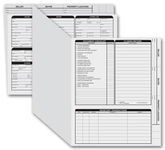 Letter Sized Real Estate Listing Folder Right Panel - 50 Count