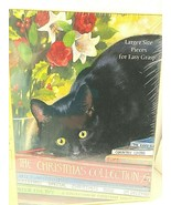 Easy Grasp Puzzle Black Cat 500 pc CHRISTMAS COLLECTION Sealed NEW Snell... - $37.57
