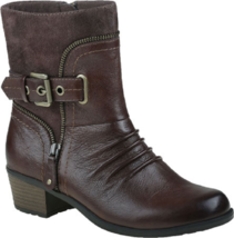 NEW EARTH ORIGINAL BROWN LEATHER BOOTS SIZE 8.5 M $130 - £45.20 GBP