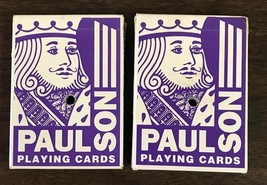 Terrible's Lakeside Casino Paulson Playing Cards Cancelled 2 Decks Blue - $10.99
