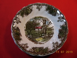 """5 1/8"""", Sauce Dish, from Johnson Bros., in the Friendly Village Pattern. - $11.99"""