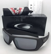OAKLEY Sunglasses GASCAN 53-113 60-15 Cerakote Cobalt Frame Black Iridium Lenses - $149.95
