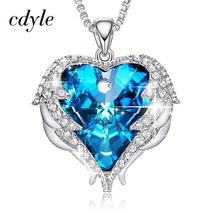 Cdyle Angel Wings Necklace Crystals from Swarovski Necklaces Fashion Jew... - $30.38+