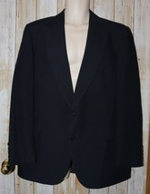 Mens Navy Blue Adams Row by Richman Suit Jacket Blazer Size 44 R 44R ex... - $24.74