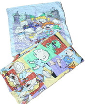 Vintage Rugrats Cartoon Duvet Cover + Pillowcase Twin Bed - $48.00
