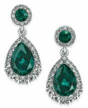 Charter Club Silver-Tone Crystal & Stone Drop Earrings - $18.95