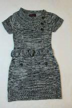 Dollhouse Girls Sweater Dress Size L 10 12 Black Gray Marled Pockets Casual - $22.54