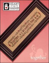 Together Wonderful Place To Be cross stitch chart Heart in Hand  - $7.20