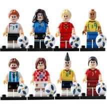 Football Player Minifigures Messi Ronaldo Neymar Beckham Lego Toy Gift for Kids - $1.99